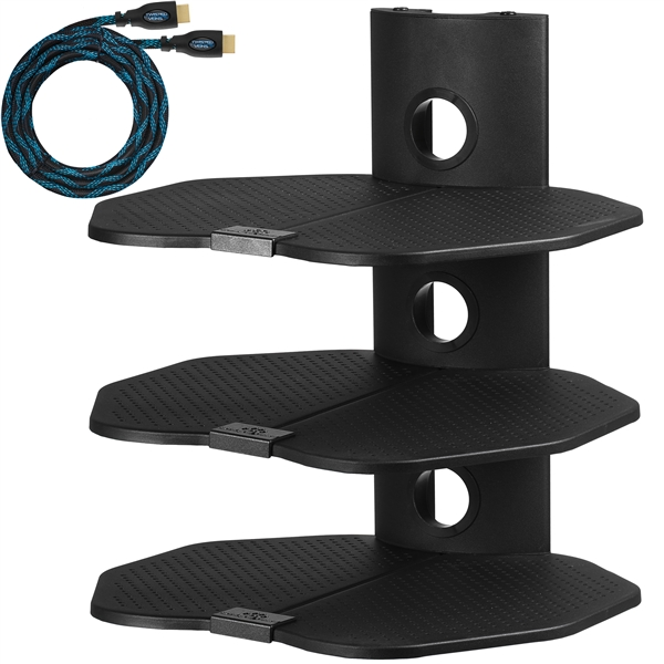 Cheetah Mounts As3b Three 3 Shelf Tv Component Wall